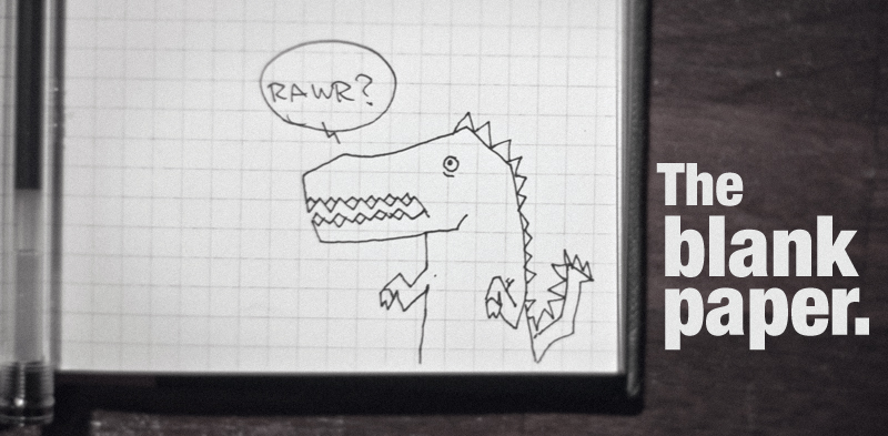 Dinosaur drawing, because dinosaurs.